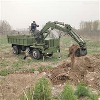 工地拉土方大型四不像運輸車帶挖機
