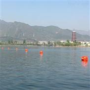 水面紅色警示浮球漂